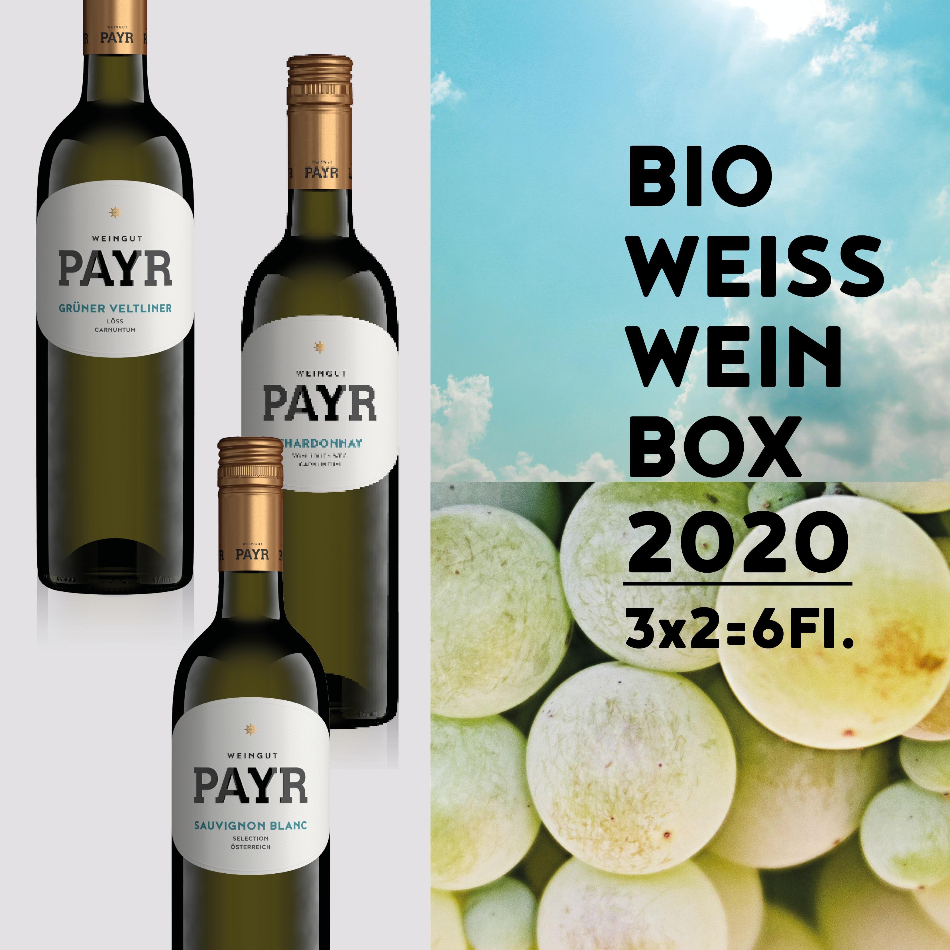 Weinflasche BIO WEISSWEIN BOX